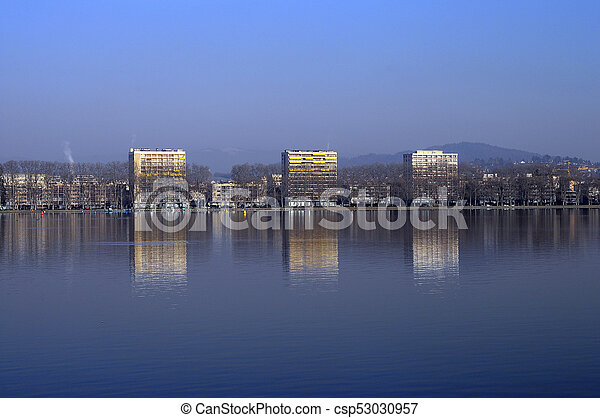 Annecy city,  Savoy, France - csp53030957