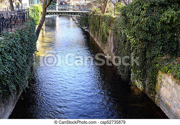 Annecy city, Thiou canal, Savoy, France - csp52735879