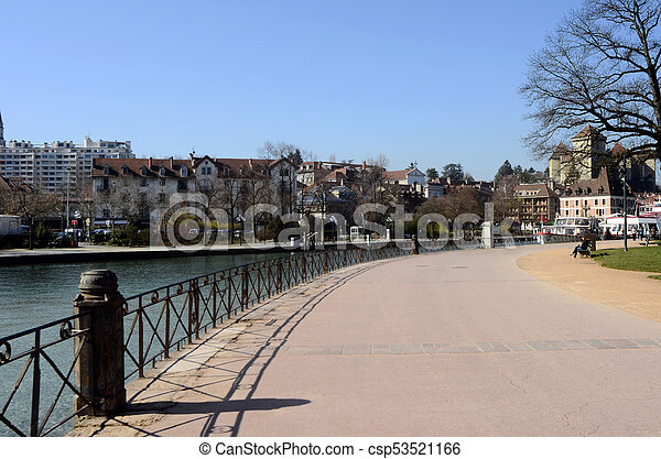 Annecy city, Thiou canal, Savoy, France - csp53521166
