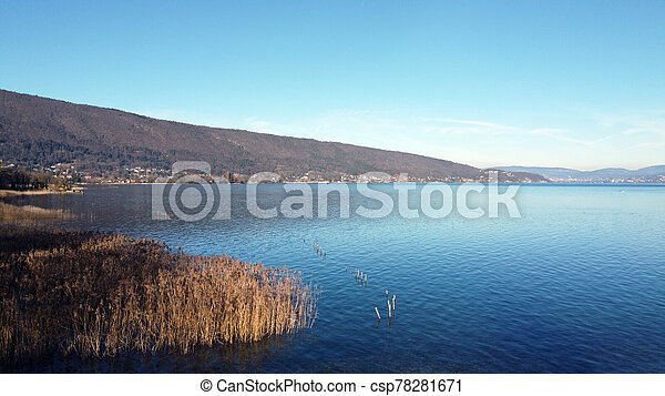 Annecy lake and mountains - csp78281671
