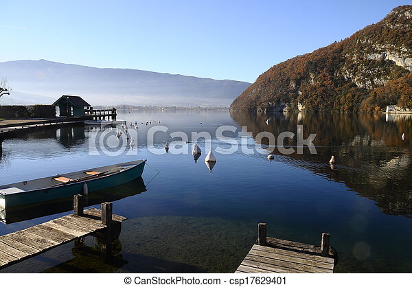 Annecy lake at Talloires, France - csp17629401