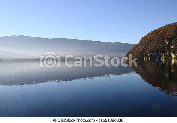 Annecy lake at Talloires, France - csp21094836