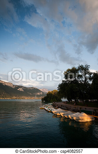 Annecy Lake Evening - csp4082557