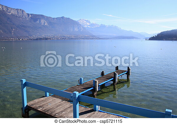 Annecy lake, France, and Alps - csp5721115