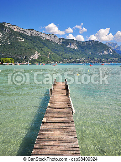 Annecy lake, France - csp38409324