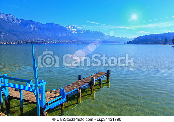 Annecy lake, France - csp34431798