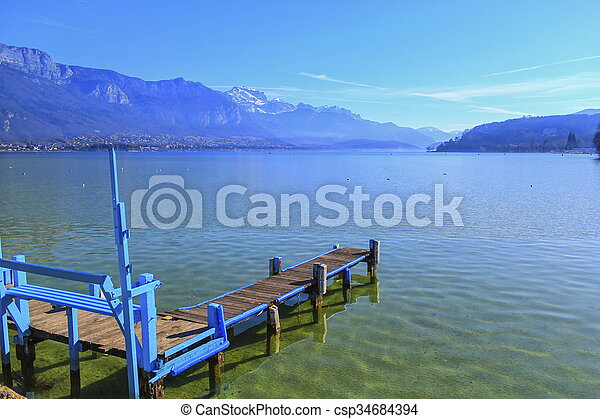 Annecy lake, France - csp34684394