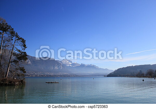 Annecy lake, France - csp5723363