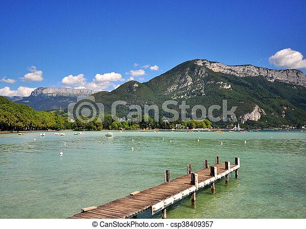 Annecy lake, Haute Savoie, France - csp38409357