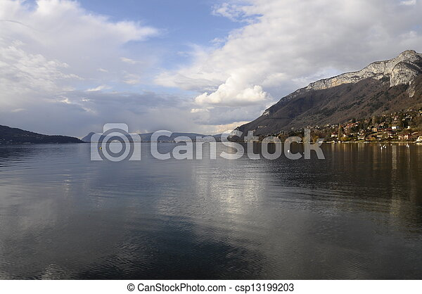 Annecy lake in Savoy, France - csp13199203