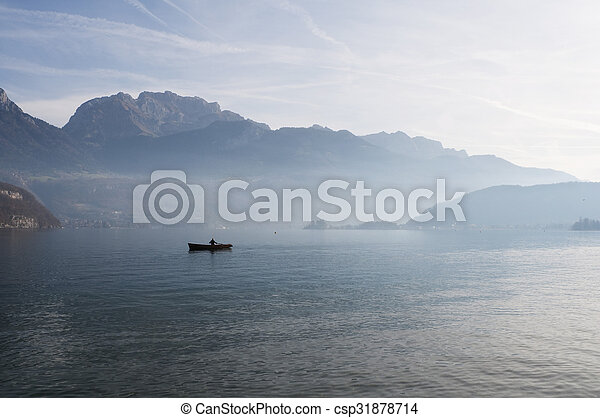 Annecy lake landscape in France - csp31878714