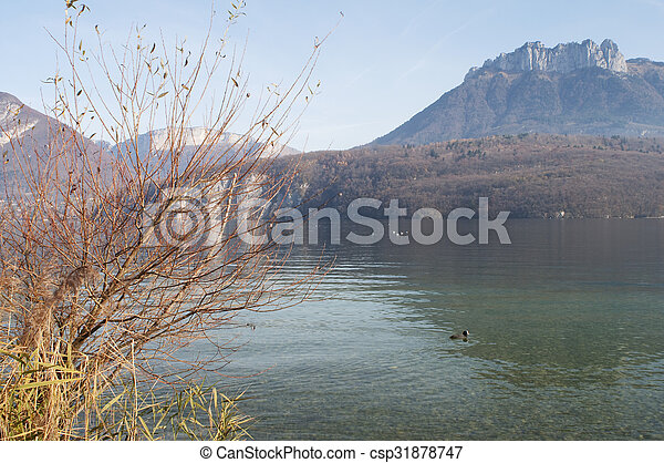 Annecy lake landscape in France - csp31878747