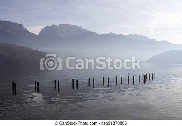Annecy lake landscape in France - csp31878806