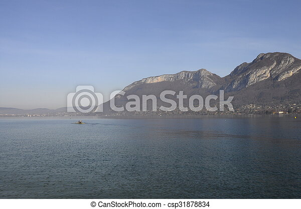 Annecy lake landscape in France - csp31878834