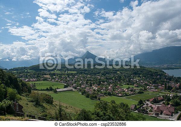 Annecy lake landscape - csp23532886