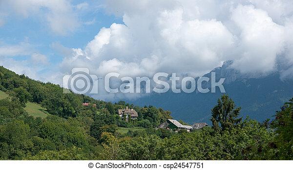 Annecy lake landscape - csp24547751