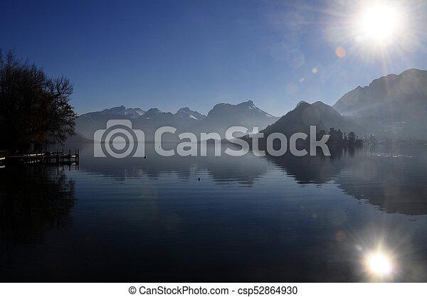 Annecy lake landscape - csp52864930