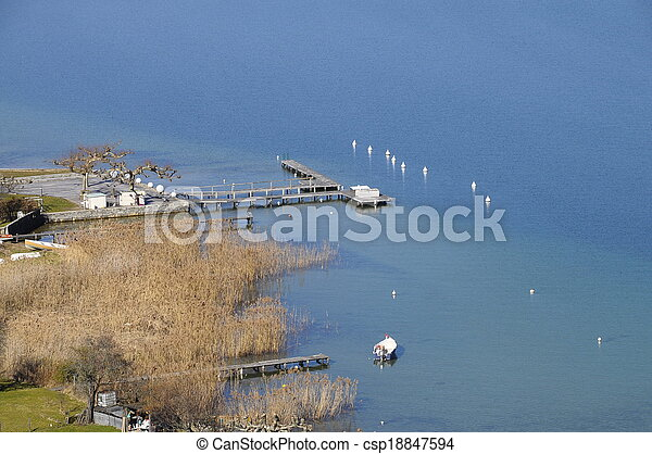 Annecy lake, Savoy, France - csp18847594
