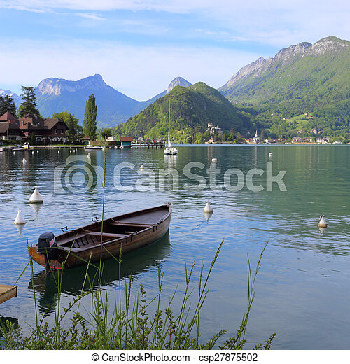 Annecy lake - csp27875502