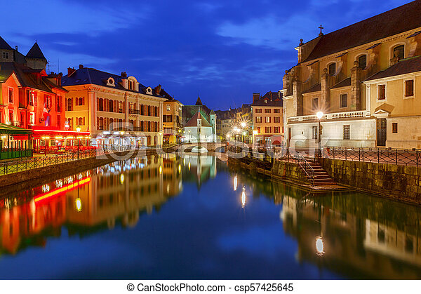 Annecy. Old city. - csp57425645