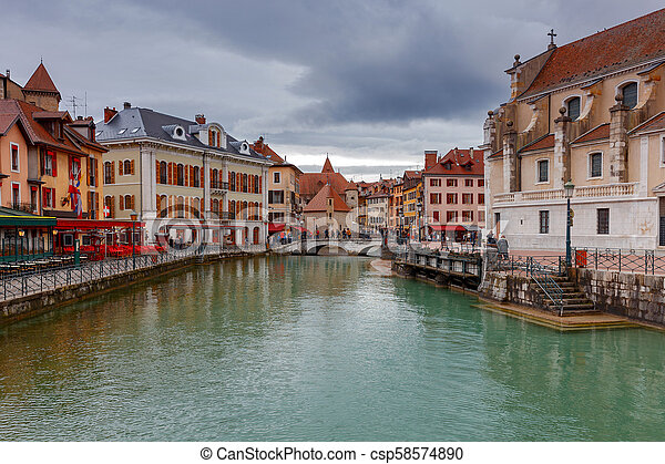 Annecy. Old city. - csp58574890