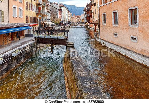 Annecy. Old city. - csp58753900