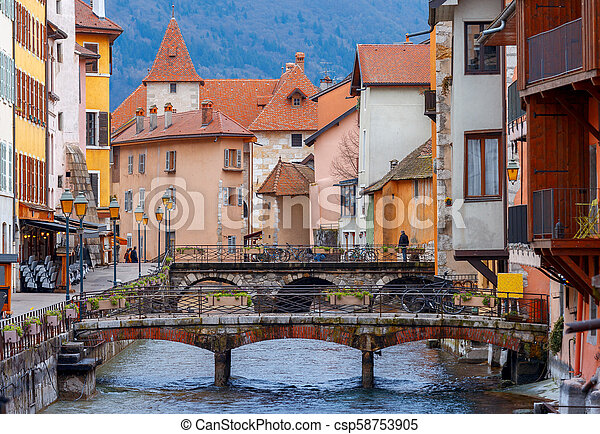 Annecy. Old city. - csp58753905