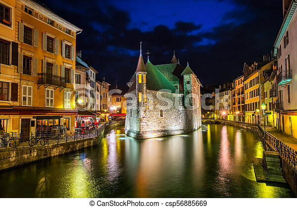 Annecy Old Town, Savoy, France - csp56885669