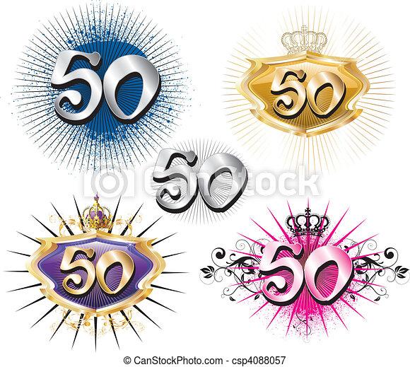 anniversaire, anniversaire, 50th, ou - csp4088057