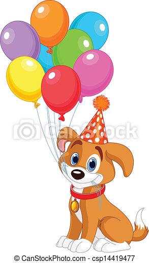 anniversaire, chiot - csp14419477