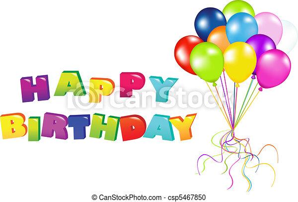anniversaire, heureux - csp5467850