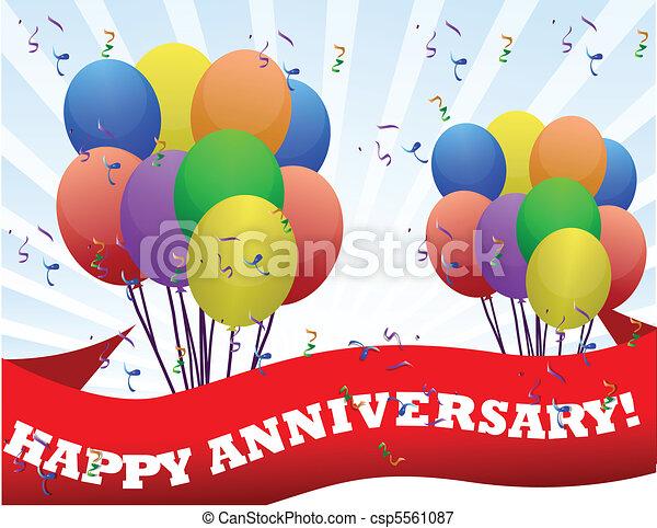 anniversario, felice - csp5561087