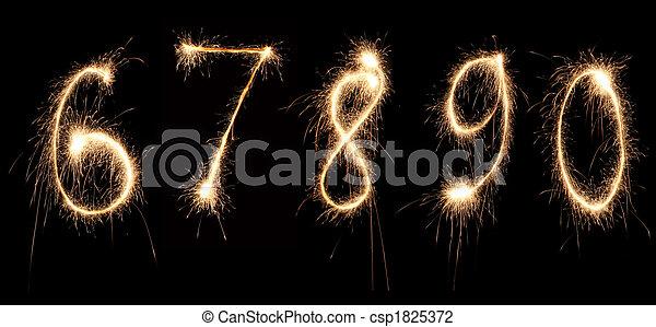 anniversary numbers sparkler 2 - csp1825372