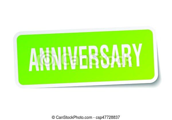 anniversary square sticker on white - csp47728837