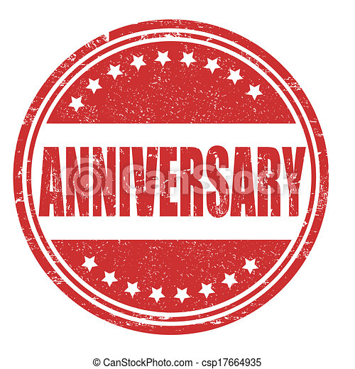 Anniversary stamp - csp17664935
