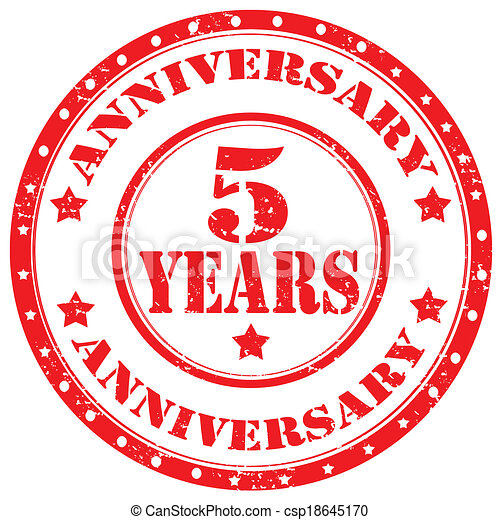 Anniversary-stamp - csp18645170