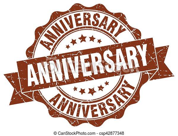 anniversary stamp. sign. seal - csp42877348