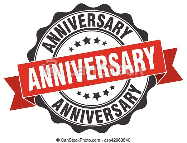 anniversary stamp. sign. seal - csp42963840
