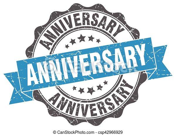 anniversary stamp. sign. seal - csp42966929