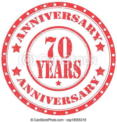 Anniversary-stamp - csp18055318