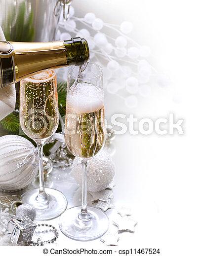 anno nuovo, celebration.champagne - csp11467524