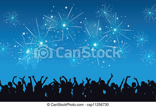 anno nuovo, celebrazione - csp11256730
