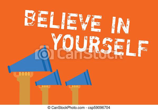 Annonce Motivation Quelqu Un Confiance Soi Scénario Citation Projection Encourageant Signe Yourself Signals Texte Transmettre Photo