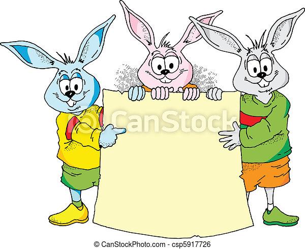 annoucement, coniglietto pasqua - csp5917726