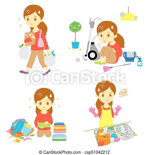 annoying household chores vector file annoying housework annoying