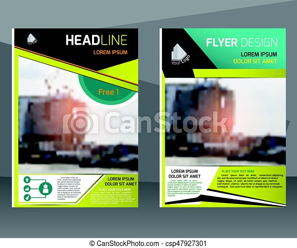 Annual report brochure flyer design template. leaflet... vector ...
