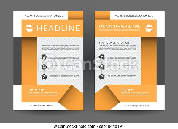 Annual Report Brochure Flyer Layout Template A4 Size Front And