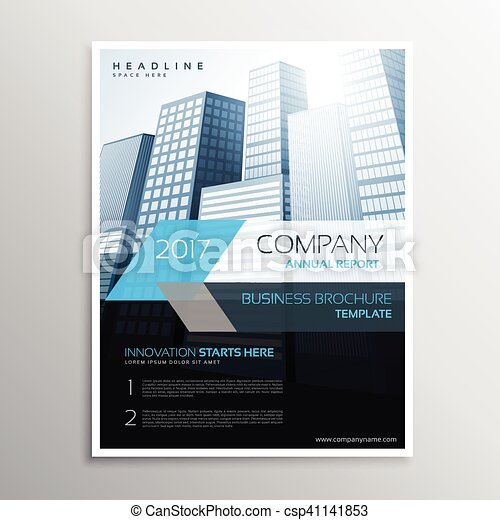 annual report brochure template cover presentation csp41141853 - Settlement Brochure Template