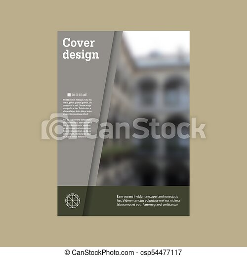 Annual report brochure vector design template vector, Leaflet cover presentation abstract flat background - csp54477117
