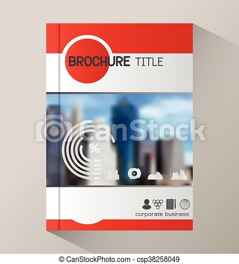 Annual Report Business Statistics Template For Magazine Brochure